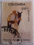 Stamps America - Colombia -  50 años de Federacion Nacional de Cafeteros