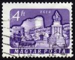 Sellos de Europa - Hungría -  COL-CASTILLO DE HEGER Y ESCULTURA