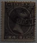 Sellos de Europa - España -  8 C. de Peso Puerto Rico