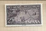Sellos de Europa - España -  Rio Muni, XXV Aniversario Exaltación Franco