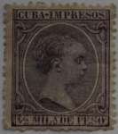 Sellos de Europa - España -  1/2 mila de peso Isla de Cuba