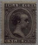 Sellos del Mundo : Europa : España : 1 C. de peso Isla de Cuba