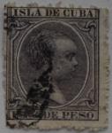 Sellos de Europa - España -  1 centimo de peso Isla de Cuba