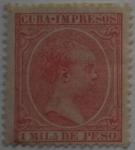 Sellos de Europa - España -  1 mila de peso Isla de Cuba