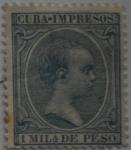 Sellos del Mundo : Europa : España : 1 mila de peso Isla de Cuba