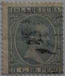 Sellos del Mundo : Europa : España : 5 centimos de peso Isla de Cuba