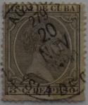 Sellos de Europa - España -  5 centimos de peso Isla de Cuba