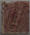 Sellos del Mundo : Europa : España : 10 centimos de peso Isla de Cuba