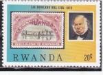 Sellos de Africa - Rwanda -  Sir Rowland Hill