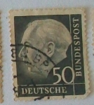 Stamps Germany -   Presidente Dr. Thedore Heuss.