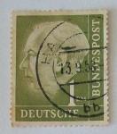 Sellos del Mundo : Europa : Alemania :  Presidente Dr. Thedore Heuss.