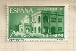 Stamps Spain -  Rio Muni, XXV Aniversario Exaltación Franco