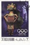 sellos de Asia - Emiratos Árabes Unidos -  OLIMPIADA MEXICO-68