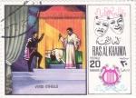 sellos de Asia - Emiratos Árabes Unidos -  OTHELLO- Verdi