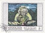 Stamps United Arab Emirates -  John Wenger-artista