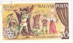 Stamps Hungary -  Obra de teatro- Cacería
