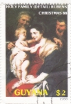 Sellos de America - Guyana -  Pintura de Rubens-Navidad-88