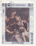 Stamps Cambodia -  pintura