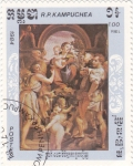 Stamps : Asia : Cambodia :  pintura