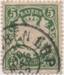 Stamps Germany -  Baviera Y & T Nº 62