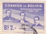 Sellos de America - Bolivia -  Revolución Nacional