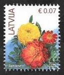 Stamps : Europe : Latvia :  Flores
