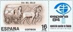 Stamps : Europe : Spain :  DIA DEL SELLO AÑO 1983 Carro de correo romano