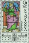 Stamps : Europe : Spain :  VIDRIERAS ARTÍSTICAS Hospital real-Santiago de Compostela