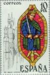 Sellos del Mundo : Europa : España : VIDRIERAS ARTÍSTICAS Rey Bíblico Catedral de León