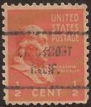Sellos del Mundo : America : Estados_Unidos : Benjamin Franklin  1938  0,50 centavos