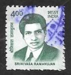 Stamps India -  2672 - Srinivasa Ramanujan, matemático