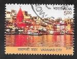 Sellos del Mundo : Asia : India :  Vista de la ciudad de Varanasi