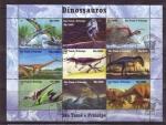 Stamps Africa - São Tomé and Príncipe -  dinosaurios