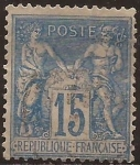 Stamps : Europe : France :  Paz y Mercurio  1877  15 cents