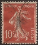 Sellos de Europa - Francia -  Sembradora 1906  10 cents rojo