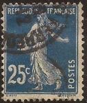 Sellos de Europa - Francia -  Sembradora 1906  25 cents azul oscuro