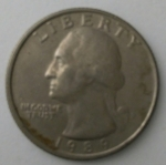 monedas de America - Estados Unidos -  1989 - quarter dollar