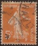 Stamps France -  Sembradora 1921  5 cents