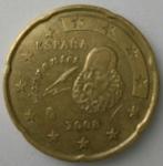 monedas del Mundo : Europa : España :  2008 - 20 cent euro
