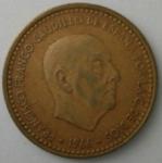monedas del Mundo : Europa : España :  1966 - 1 peseta