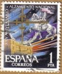 Stamps Spain -  Aniver. Alzamiento - Alcazar de Toledo