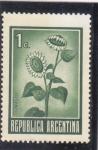 Stamps Argentina -  Flor- Girasol