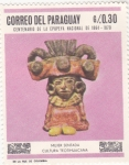 Sellos de America - Paraguay -  Mujer Sentada-Cultura Teotihuacana