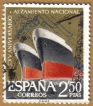 Stamps Spain -  Aniver. Alzamiento - Industria Naval