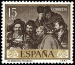 Sellos del Mundo : Europa : España : ESPAÑA SEGUNDO CENTENARIO NUEVO Nº 1238 ** 15C CASTAÑO OSCURO VELAZQUEZ
