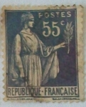 Stamps : Europe : France :  Paix