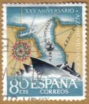 Sellos de Europa - España -  Aniver. Alzamiento - Paseo del Estrecho