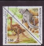 sellos de Europa - España -  Republica Saharaui- Dinosaurios
