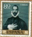 Stamps Spain -  GRECO - Caballero mano al pecho