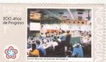 Stamps : America : Nicaragua :  200 años de progresos- Centro Monitor de Señales del Espacio